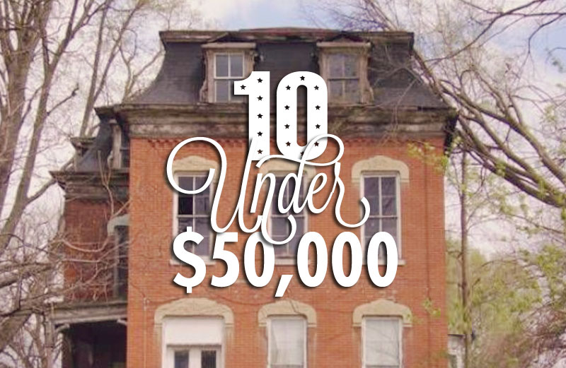 10 Under $50,000: A Mansard-Capped Mansion, An Oregon Bungalow and a Double Dose of Turrets!